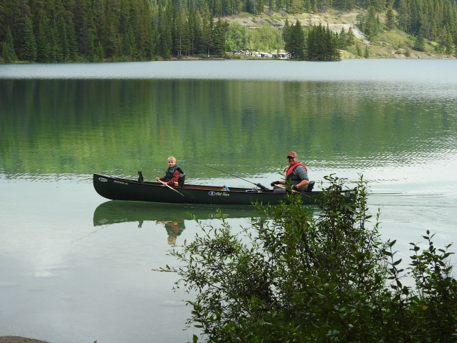 Father &Son on Two Jack Lake Banff