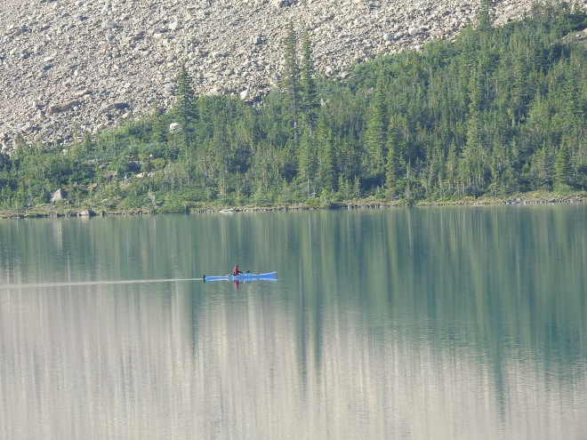 Kayak on Bow Lake